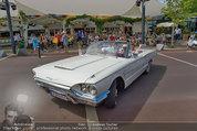 Lugner Verlobung - Casino Velden - Fr 01.08.2014 - Ankunft Richard LUGNER mit Thunderbird Cabrio8