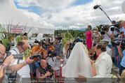 Lugner Verlobung - Casino Velden - Fr 01.08.2014 - Spatzi Cathy SCHMITZ, Richard LUGNER im Medienrummel, Presse87