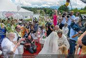 Lugner Verlobung - Casino Velden - Fr 01.08.2014 - Spatzi Cathy SCHMITZ, Richard LUGNER im Medienrummel, Presse88