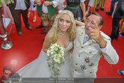 Lugner Verlobung - Casino Velden - Fr 01.08.2014 - Richard LUGNER, Spatzi Cathy SCHMITZ91