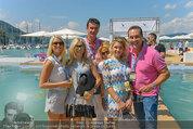Beachvolleyball VIPs - Centrecourt Klagenfurt - Sa 02.08.2014 - HC Heinz-Christian STRACHE, Karl BARON mit Damenbegleitung17