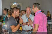 Beachvolleyball VIPs - Centrecourt Klagenfurt - Sa 02.08.2014 - HC Heinz-Christian STRACHE, Felix BAUMGARTNER, Gerhard D�RFLER32
