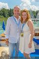 Beachvolleyball VIPs - Centrecourt Klagenfurt - Sa 02.08.2014 - Gerald KLUG mit Sandra (HRNJAK, schwanger)65