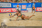 Beachvolleyball VIPs - Centrecourt Klagenfurt - Sa 02.08.2014 - Spielerinnenfoto, Actionfoto85