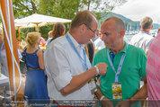 Beachvolleyball VIPs - Centrecourt Klagenfurt - So 03.08.2014 - Othmar KARAS, Gerald KLUG18