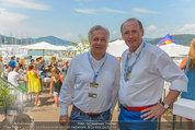 Beachvolleyball VIPs - Centrecourt Klagenfurt - So 03.08.2014 - Wolfgang FELLNER, Othmar KARAS2