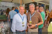 Beachvolleyball VIPs - Centrecourt Klagenfurt - So 03.08.2014 - Othmar KARAS, Wolfgang FELLNER20