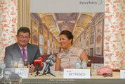 Netrebko Pressekonferenz - Hotel Sacher Salzburg - Mo 11.08.2014 - Stefan OTTRUBAY, Anna NETREBKO27