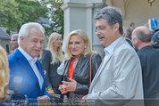 Katzenzungen Premiere - Stadttheater Berndorf - Do 14.08.2014 - Wolfgang HESOUN mit Ehefrau Brigitte, Harald SERAFIN28
