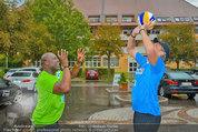 Promi Beachvolleyball - Parktherme Bad Radkersburg - So 24.08.2014 - Biko BOTOWAMUNGU, Oliver STAMM spielen im Regen32