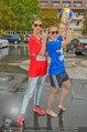 Promi Beachvolleyball - Parktherme Bad Radkersburg - So 24.08.2014 - Cathy ZIMMERMANN, Missy MAY spielen im Regen36