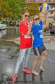 Promi Beachvolleyball - Parktherme Bad Radkersburg - So 24.08.2014 - Cathy ZIMMERMANN, Missy MAY spielen im Regen37