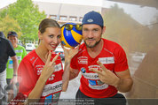 Promi Beachvolleyball - Parktherme Bad Radkersburg - So 24.08.2014 - Cathy ZIMMERMANN, Fabian PLATO61