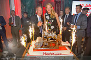 10 Jahre HEUTE - Rosengarten Belvedere - Do 04.09.2014 - Wolfgang JANSKY, Eva DICHAND mit Geburtstagstorte228
