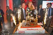 10 Jahre HEUTE - Rosengarten Belvedere - Do 04.09.2014 - Wolfgang JANSKY, Eva DICHAND mit Geburtstagstorte230