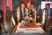10 Jahre HEUTE - Rosengarten Belvedere - Do 04.09.2014 - Wolfgang JANSKY, Eva DICHAND mit Geburtstagstorte231
