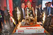 10 Jahre HEUTE - Rosengarten Belvedere - Do 04.09.2014 - Wolfgang JANSKY, Eva DICHAND mit Geburtstagstorte232