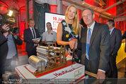 10 Jahre HEUTE - Rosengarten Belvedere - Do 04.09.2014 - Wolfgang JANSKY, Eva DICHAND mit Geburtstagstorte235
