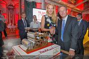 10 Jahre HEUTE - Rosengarten Belvedere - Do 04.09.2014 - Wolfgang JANSKY, Eva DICHAND mit Geburtstagstorte236