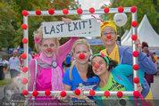 Rote Nasen Lauf - Prater Hauptallee - So 07.09.2014 - Claudia REITERER mit Clowns1