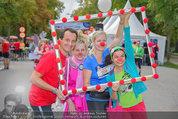 Rote Nasen Lauf - Prater Hauptallee - So 07.09.2014 - Claudia REITERER, Christian OXONITSCH mit Clowns15
