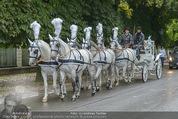 Lugner Hochzeit - Schloss Schönbrunn - Sa 13.09.2014 - sechssp�nnige Kutsche1