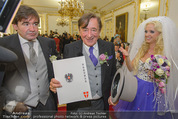 Lugner Hochzeit - Schloss Schönbrunn - Sa 13.09.2014 - Hochzeit Richard und Cathy LUGNER (Schmitz)86