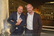 Wolfgang Fellner 60er - Park Hyatt Hotel - Mo 13.10.2014 - Gery KESZLER mit Freund Andreas143