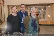 Peter Weibel Ausstellung - 21er Haus - Do 16.10.2014 - Arnulf RAINER mit Tochter Clara und Javier76