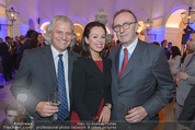Webster University Opening - Palais Wenkheim - Mi 29.10.2014 - Hans SCHMIED mit Ehefrau Petra, Thomas HINTZE27