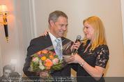 20 Jahre Dentalklinik Sievering - Hotel Bristol - Fr 07.11.2014 - Ernst WEINMANN mit Ehefrau Jeanne29