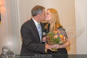 20 Jahre Dentalklinik Sievering - Hotel Bristol - Fr 07.11.2014 - Ernst WEINMANN mit Ehefrau Jeanne31