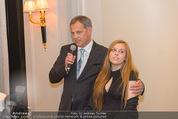 20 Jahre Dentalklinik Sievering - Hotel Bristol - Fr 07.11.2014 - Ernst WEINMANN mit Tochter Isabell34