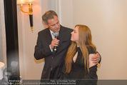 20 Jahre Dentalklinik Sievering - Hotel Bristol - Fr 07.11.2014 - Ernst WEINMANN mit Tochter Isabell35
