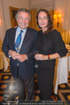 20 Jahre Dentalklinik Sievering - Hotel Bristol - Fr 07.11.2014 -  Sabine BAAR-BAARENFELS mit Freund Walter6