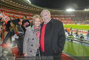 Österreich - Brasilien (VIP) - Ernst Happelstadion - Di 18.11.2014 - Michael H�UPL mit Ehefrau Barbara (H�RNLEIN)20