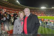 Österreich - Brasilien (VIP) - Ernst Happelstadion - Di 18.11.2014 - Michael H�UPL mit Ehefrau Barbara (H�RNLEIN)7