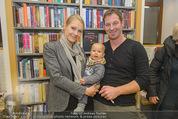 Bernie Rieder Buchpräsentation - Morawa - Do 27.11.2014 - Familie Bernie RIEDER mit Ehefrau Sandra und Sohn Valentin1