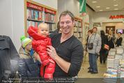 Bernie Rieder Buchpräsentation - Morawa - Do 27.11.2014 - Bernie RIEDER mit Kind (Sohn Valentin)8