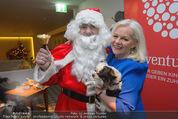 Promi Keksbacken - Parkhotel Schönbrunn - Di 02.12.2014 - Brigitte KREN mit Hund Chico, Weihnachtsmann SantaClaus19