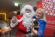 Promi Keksbacken - Parkhotel Schönbrunn - Di 02.12.2014 - Brigitte KREN mit Hund Chico, Weihnachtsmann SantaClaus20