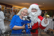 Promi Keksbacken - Parkhotel Schönbrunn - Di 02.12.2014 - Brigitte KREN mit Hund Chico, Weihnachtsmann SantaClaus22