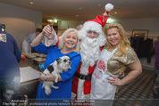 Promi Keksbacken - Parkhotel Schönbrunn - Di 02.12.2014 - Brigitte KREN, Susanna HIRSCHLER mit Weihnachtsmann45
