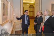 Jasper Johns Ausstellung - Oberes Belvedere - Mo 12.01.2015 - Alexa WESNER mit Mutter, Agnes HUSSLEIN, Mario CODOGNATO13