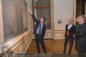 Jasper Johns Ausstellung - Oberes Belvedere - Mo 12.01.2015 - Alexa WESNER mit Mutter, Agnes HUSSLEIN, Mario CODOGNATO14