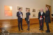 Jasper Johns Ausstellung - Oberes Belvedere - Mo 12.01.2015 - Alexa WESNER mit Mutter, Agnes HUSSLEIN, Mario CODOGNATO17