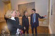 Jasper Johns Ausstellung - Oberes Belvedere - Mo 12.01.2015 - Alexa WESNER mit Mutter, Agnes HUSSLEIN, Mario CODOGNATO9