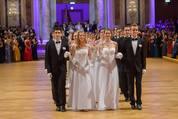114. Zuckerbäckerball - Hofburg - Do 15.01.2015 - Balleröffnung, Debüdanten, Einzug, tanzen, Tanzpaare48
