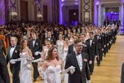 114. Zuckerbäckerball - Hofburg - Do 15.01.2015 - Balleröffnung, Debüdanten, Einzug, tanzen, Tanzpaare50