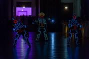 114. Zuckerbäckerball - Hofburg - Do 15.01.2015 - Eröffnung, Leuchtfiguren, Tanzformation73